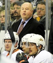 Bruce Boudreau, head coach of the Anaheim Ducks, played 11 seasons in the AHL en route to an induction into the AHL Hall of Fame.